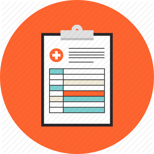 diagnosis_prescription_report_doctor_consultation_document_medical_conclusion_flat_design_icon-512